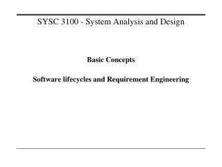 SYSC 3100 - System Analysis and Design