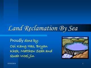 Land Reclamation by Sea - Polders