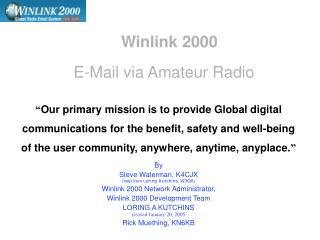 winlink 2000 e-mail via amateur radio