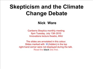 skepticism and the climate change debate   nick  ware