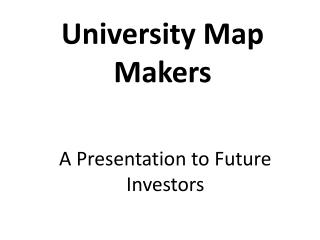 University Map Makers