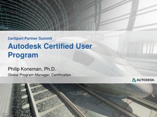 Autodesk Certified User Program