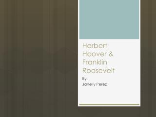 Herbert  Hoover & Franklin Roosevelt