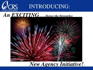 An EXCITING ……(hence the fireworks)                    New Agency Initiative!