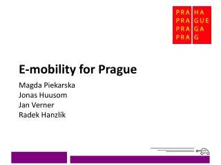 E-mobility for Prague