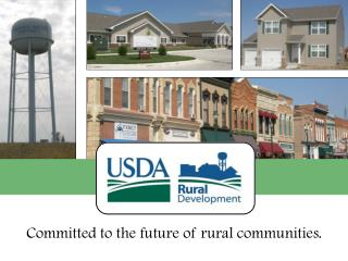 USDA Rural Development Water & Environmental Programs Iowa Rural Water Association Annual Conference – February 2013