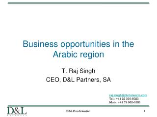 Business opportunities in the Arabic region
