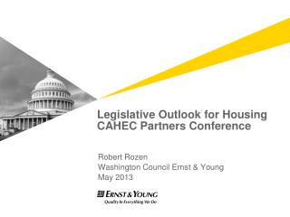 Legislative Outlook for Housing CAHEC Partners Conference