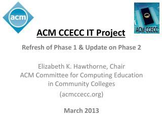 ACM CCECC IT Project