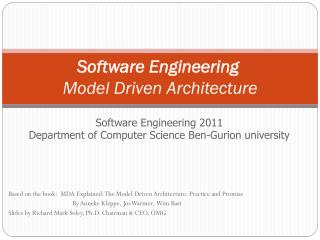 Software Engineering  Model Driven Architecture
