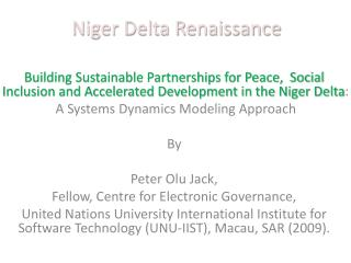 Niger Delta Renaissance