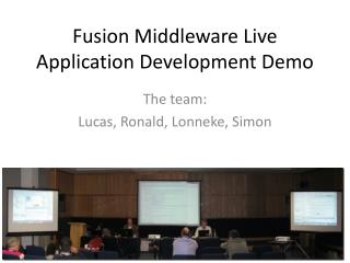 Fusion Middleware Live Application Development Demo