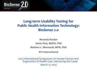 Long-term Usability Testing for  Public  Health Information Technology: BioSense 2.0