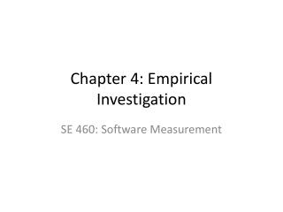 Chapter 4: Empirical Investigation