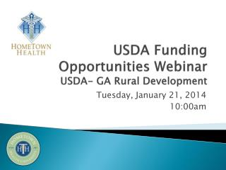 USDA Funding Opportunities Webinar USDA- GA Rural Development