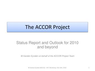 The ACCOR Project