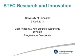 STFC Research and Innovation