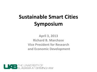 Sustainable Smart Cities Symposium