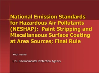 national emission standards for hazardous air pollutants neshap:  paint stripping and miscellaneous surface coating at a
