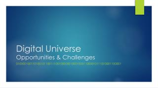Digital Universe  Opportunities & Challenges