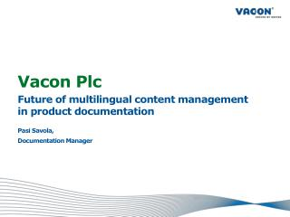 Vacon Plc