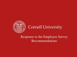 Response to the Employee Survey Recommendations