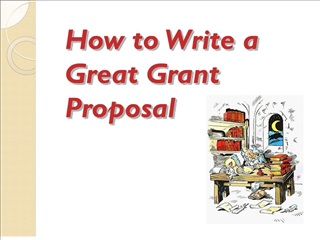 how to write a great grant proposal