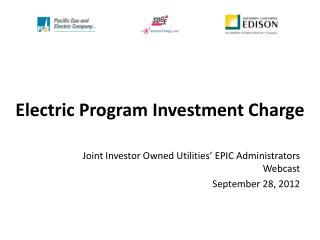 Electric Program Investment Charge