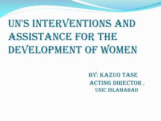 UN has made significant progress in advancing gender equality and development The  Beijing Declaration and Platform for