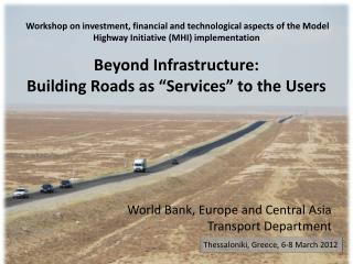 World Bank, Europe and Central Asia  Transport Department
