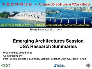Beijing, September 25-27, 2011