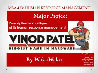 MBA 423: HUMAN RESOURCE MANAGEMENT