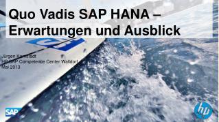 Quo Vadis SAP HANA – Erwartungen  und  Ausblick