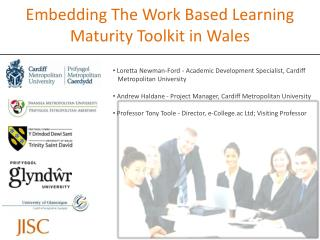 Embedding The Work Based Learning Maturity Toolkit in Wales