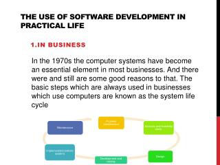 The use of software development in practical life