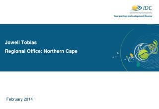 Jowell  Tobias Regional Office: Northern Cape