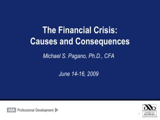 the financial crisis: causes and consequences