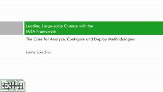 Leading Large-scale Change with the  MITA Framework