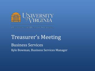 Treasurer's Meeting