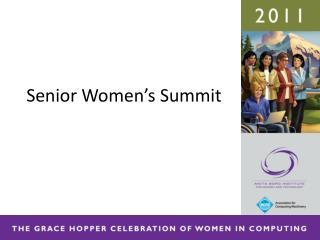 Senior Women's Summit