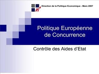 politique europ enne de concurrence