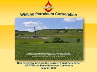 Whiting Petroleum Corporation