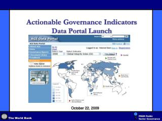 Actionable Governance Indicators  Data Portal Launch