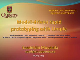 Model-driven rapid prototyping with Umple