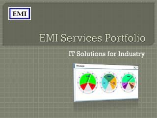 EMI Services Portfolio