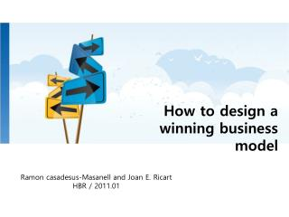 How to design a winning business model