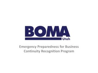 Emergency Preparedness for Business Continuity Recognition Program