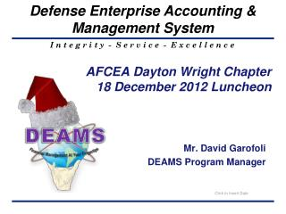 AFCEA Dayton Wright Chapter 18  December 2012 Luncheon
