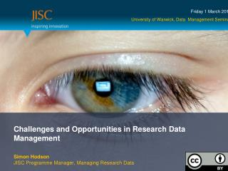 Challenges and Opportunities in Research Data Management