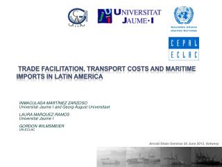 trade facilitation, transport costs and Maritime imports in  latin america